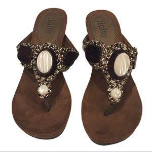 Rialto Wedge Sandal Size 6